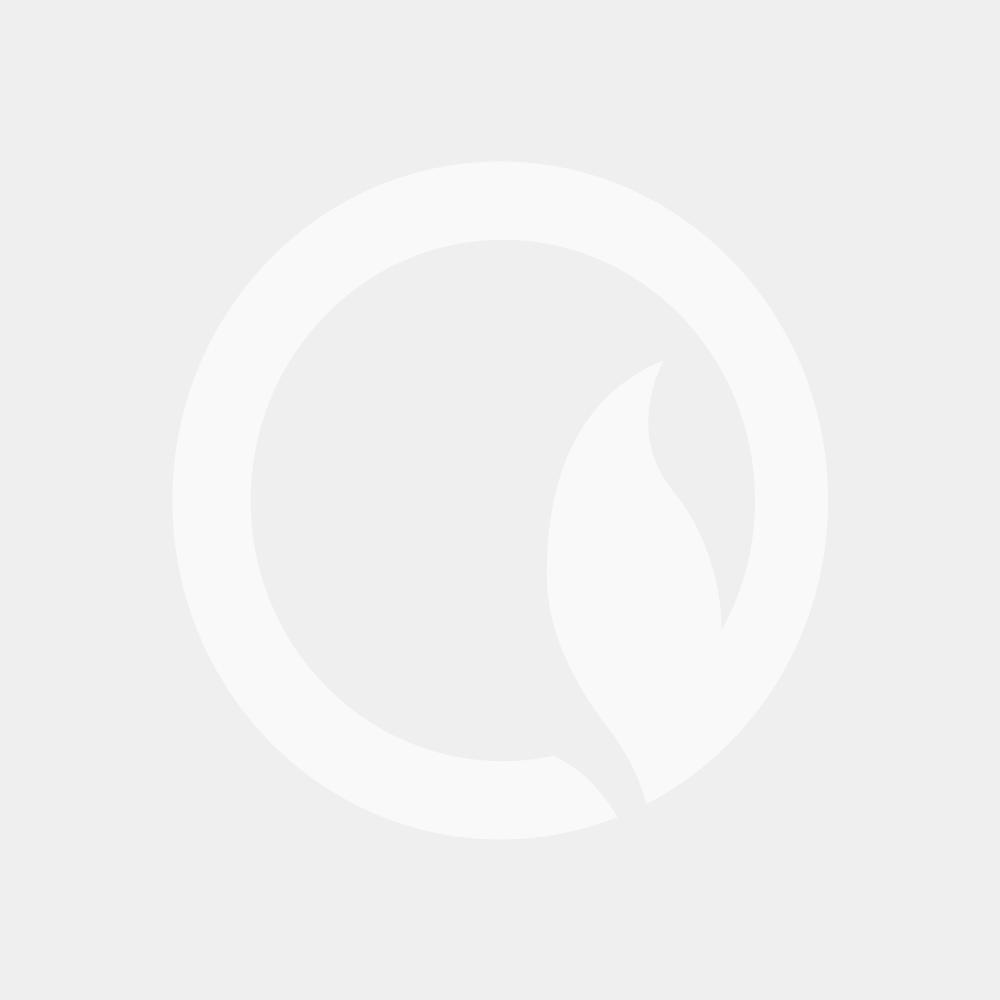 Hudson Reed Fin - High Gloss Silver Horizontal Double Panel Radiator 504mm x 1000mm